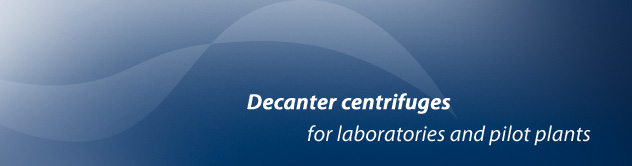Decanter centrifuges for Laboratories and pilot plants
